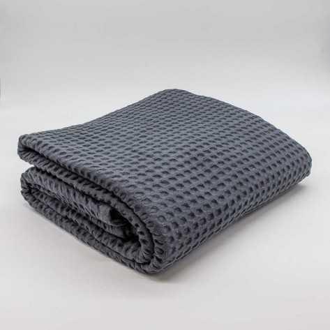 Colcha manta multiusos algodão geométrico cinza colchas-multiusos