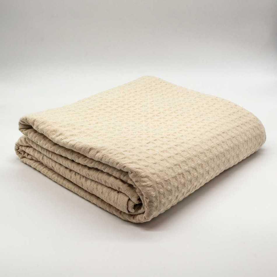 Colcha manta multiusos algodão geométrico natural colchas-multiusos