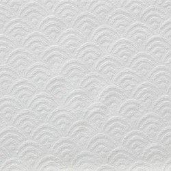 Cortina Jacquard Chenilla Sol Branco opacas