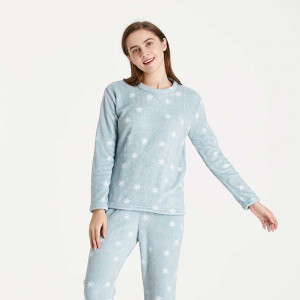 Pijama coral Snow verde...