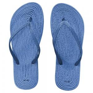 chinelos lisos azul
