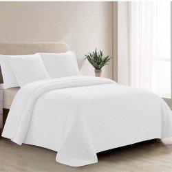 Colcha Jacquard Bordado branco 240x270 cama-140