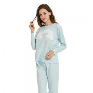 Pijama Polar ARCO IRIS Celeste