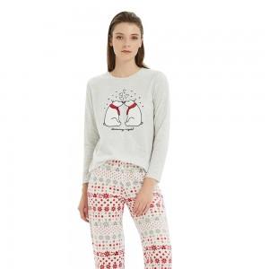 Pijama Polar OSO cinza Perla