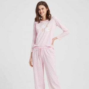 Pijama algodão  Ovelha Rosa...