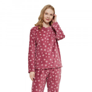 Pijama coral Snow grená