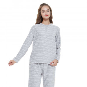 Pijama coral Maina Cinza