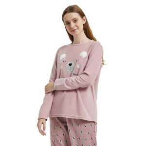 Pijama polar Mimoso Lilás/rosa