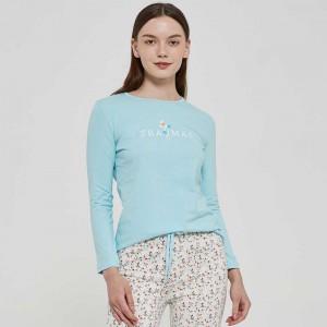 Pijama algodão Jardín azul