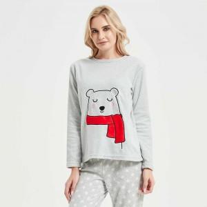 Pijama polar Yogui Cinza