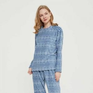 Pijama coral Nuria azul índigo