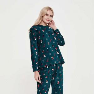 Pijama coral Noel verde