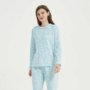 Pijama coral Snow azul celeste
