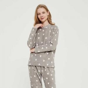 Pijama coral Olga cinza