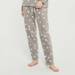 Pijama coral Olga cinza pijama-inverno