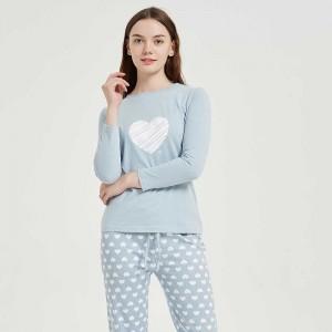 Pijama algodão Noruega azul...