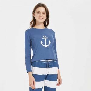 Pijama algodão Marinera azul