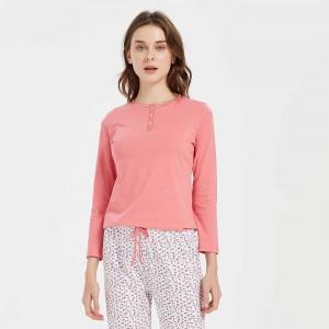 Pijama algodão Melisa rosa