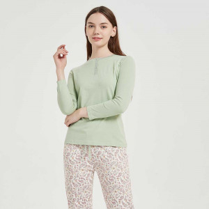 Pijama algodão Fina verde