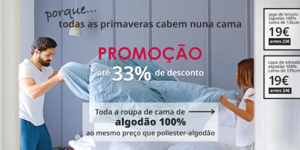 PROMO CONCLUÍDA: Promoção finalizada. Todas as primaveras cabem numa cama: oferta exclusiva de lençóis 100% algodão.