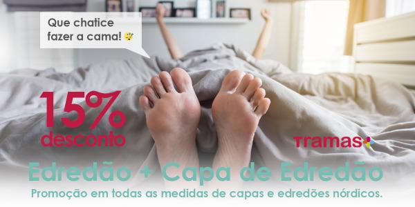 Promo edredão nórdico + Capa de edredão 15% Desconto
