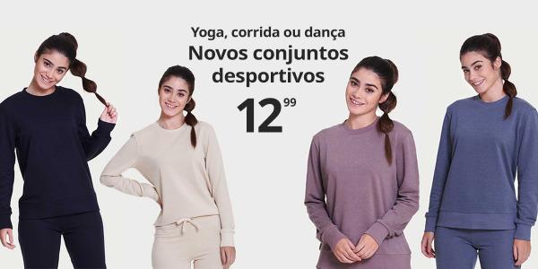 Conjuntos de desporto para yoga, corrida, dança...E só por 12,99€