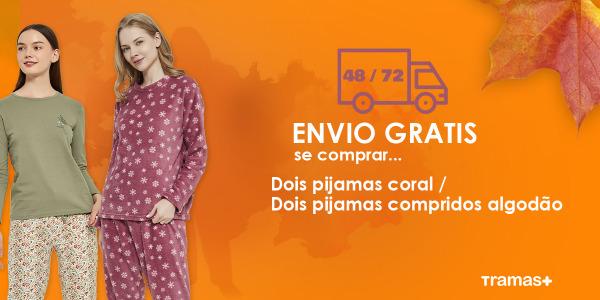 O Outono está a chegar e é para celebrar… ¡Envio grátis na compra de dois pijamas!